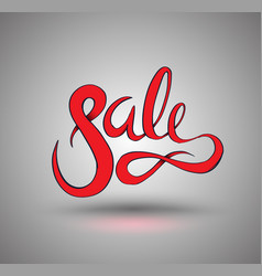 sale drawn for promotion element vector image vector image