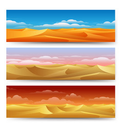 sand dunes banners set vector image
