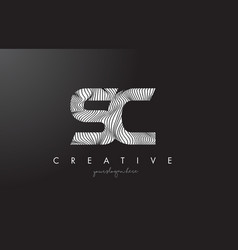Sc s c letter logo with zebra lines texture vector