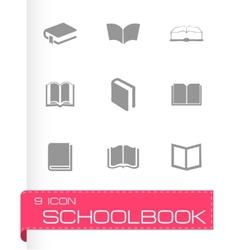 schoolbook icons set vector image
