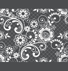 Seamless lace retro pattern lace design vector