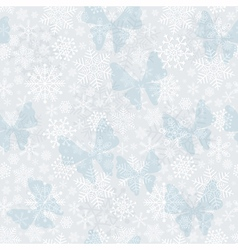 Seamless silvery Christmas pattern vector
