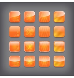 Set of blank orange buttons vector image