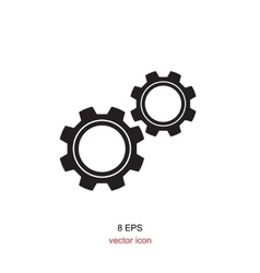 Simple gears icon vector image