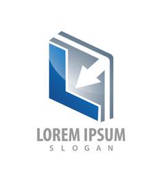 square arrow initial letter l logo concept design vector image