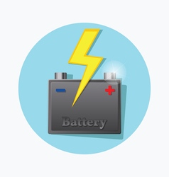 Storage battery flat icon vector