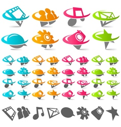 swoosh social media logo icons vector image
