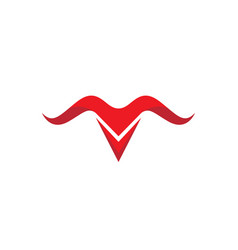 taurus logo template icon vector image