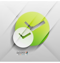 time paper modern clock design vector image