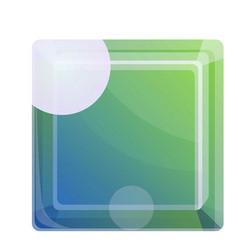 Topaz gem icon cartoon style vector