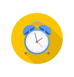 Wake up clock icon vector
