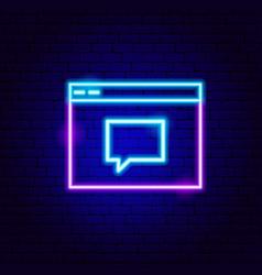 Website contact neon sign vector