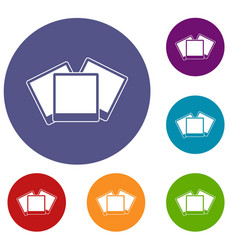 wedding invitation cards icons set vector image