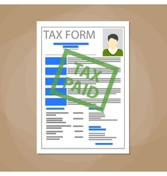 White tax form blank vector image