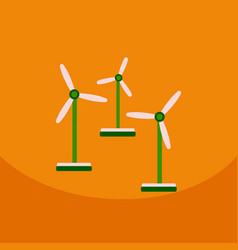 Wind turbine alternative energy resource nature vector