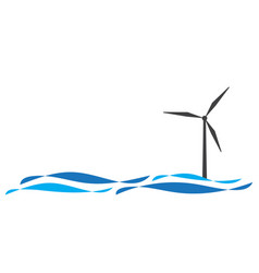 wind turbine logo vector image