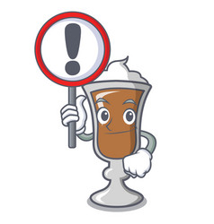 with sign irish coffee character cartoon vector image