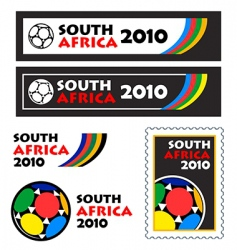 world soccer cup 2010 banners vector image
