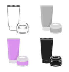 Body creams icon in cartoon style isolated on vector
