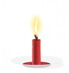 candle on a plate vector image