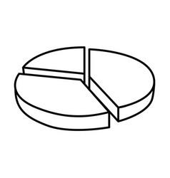 circular statistic graph icon vector image