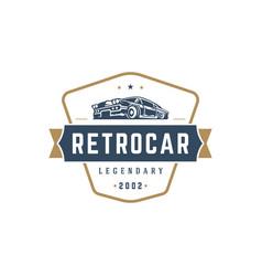 hot rod car logo template design element vector image vector image