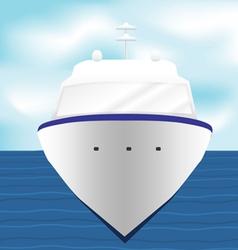 Ocean Liner Cruise Ship Boat at Sea artwork 1 vector image vector image