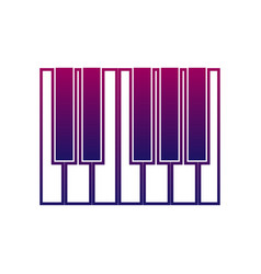piano or synthesizer icon music sign musical vector image