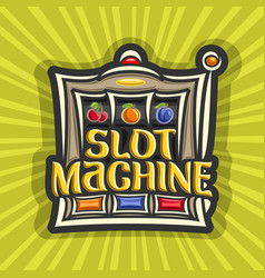 poster for slot machine vector image vector image