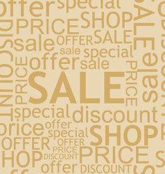 seamless discount background vector image vector image
