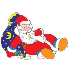 Tipsy santa claus vector