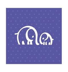 white elephant family simple icon vector image