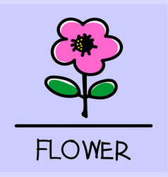 Flower hand-drawn style vector