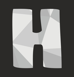 H low poly alphabet letter isolated on black vector