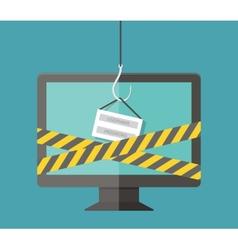 Internet Phishing hacking login and password vector image