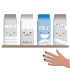 milk emotions a different vector image vector image
