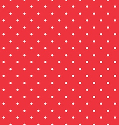 red background polka fabric with white little dots vector image