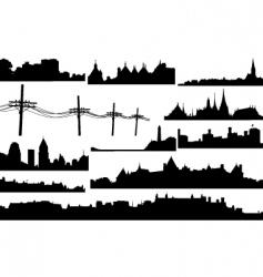 skylines vector image