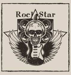 vintage rock star grunge vector image
