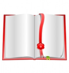 blank open book with bookmarks vector image
