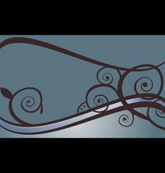 blue swirls vector image
