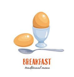 Boiled egg vector
