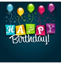 Happy birthday and balloons vector