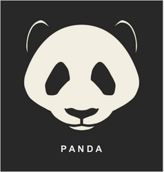 Image of chinese panda bear vector