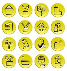 real estate home icons vector image vector image