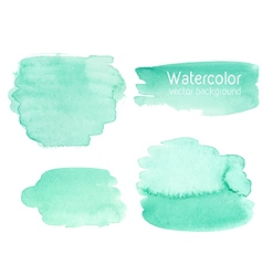 set of abstract watercolor background vector image vector image