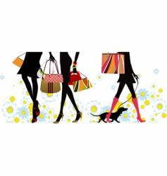 Summer shopping vector