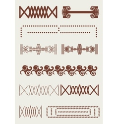 Vintage border retro lines original ornament vector image