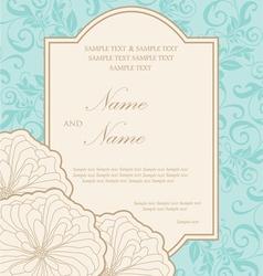 Wedding card vector image vector image