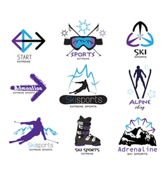 Design elements extreme winter sports vector image vector image